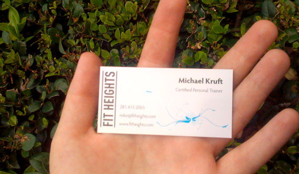 Fit Heights Business Card Printed